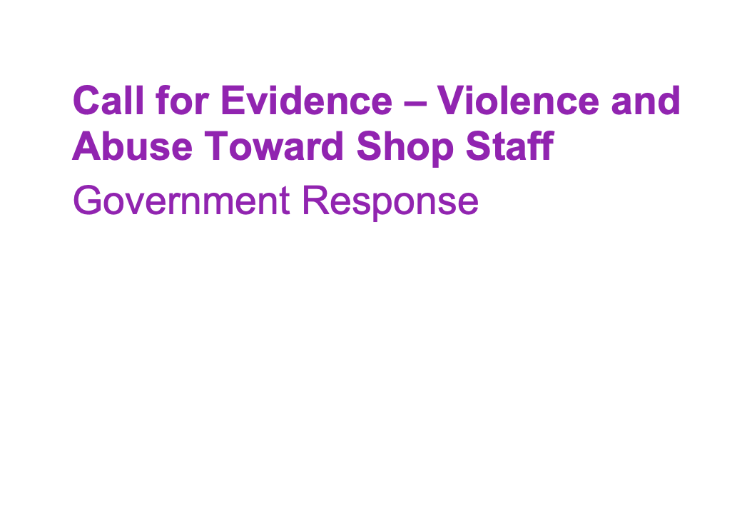 Government response to shopworker violence