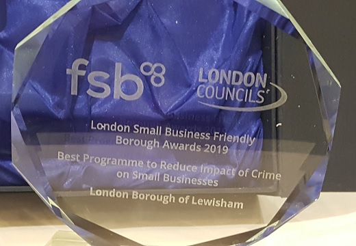 Safer Lewisham BCRP recognised at FSB awards