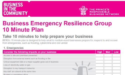 Take 10 minutes to help prepare your business